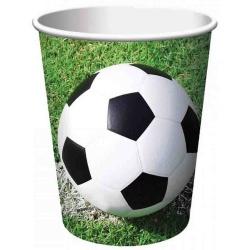 Papierové poháre Futbal Párty, 200ml, 8ks