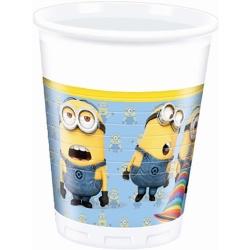 Plastové poháre Mimoni, 200ml, 8ks