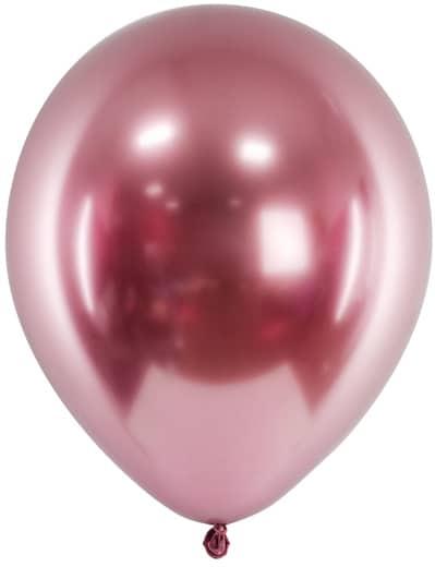 Balóny chrómové ružové, 30cm, 1ks