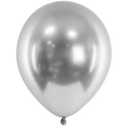 Balóny chrómové strieborné, 30cm, 1ks