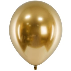 Balóny chrómové zlaté, 30cm, 1ks