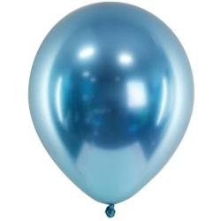 Balóny chrómové modré, 30cm, 1ks
