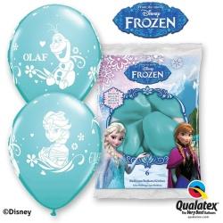 Balóny Frozen, Anna, Elsa a Olaf, tyrkysové, 30cm, 6ks