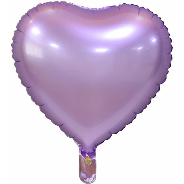 Fóliový balón fialové srdce matné, 46cm