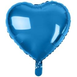 Fóliový balón modré srdce, 46cm