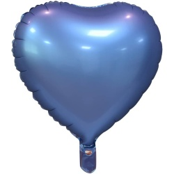 Fóliový balón modré srdce matné, 46cm