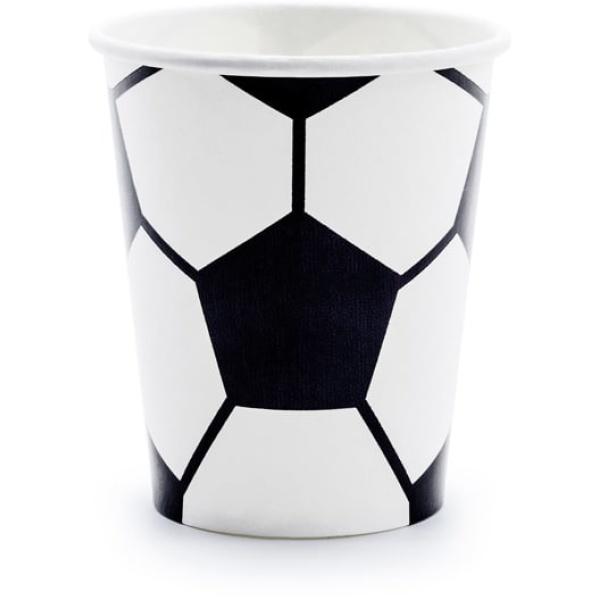 Papierové poháre Futbal, 220ml, 6ks