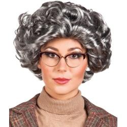 Parochňa Elizabeth kučeravé sivé vlasy