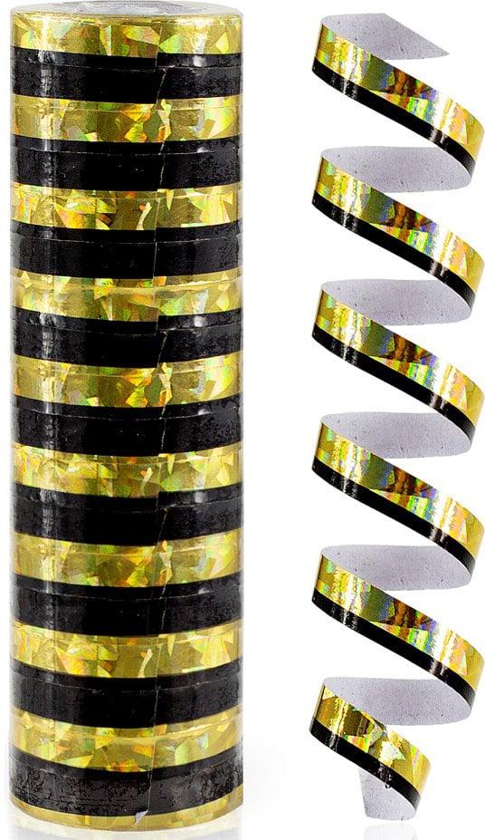 Serpentína holografická, zlatočierna, 1ks