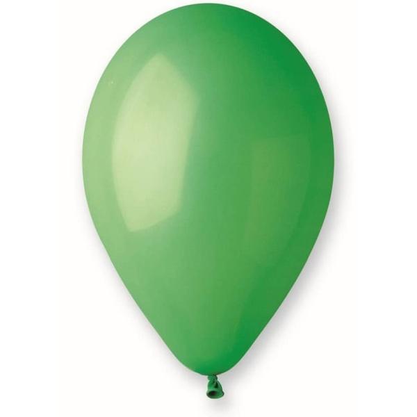 Balón pastelový zelený 30cm, 1ks