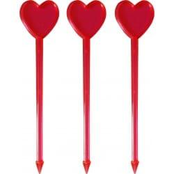 Napichovadlo červené srdce, 85mm, 200ks