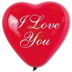 Balóny červené srdcia I Love You, 25cm