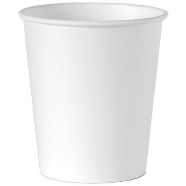BIO papierový pohár biely kompostovateľný, 250ml, 100ks