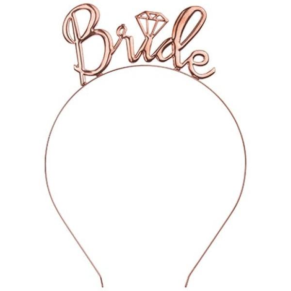 Čelenka Bride ružovo zlatá, kovová