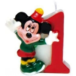 Číselná sviečka 1 Mickey Mouse, 5cm