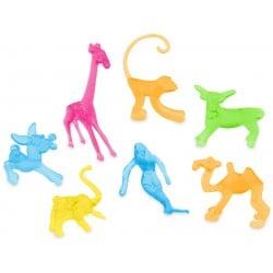 Dekoračné figúrky zvieratká na poháre, 7 druhov, 100ks