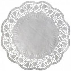 Dekoračné krajky okrúhle pod tortu, 30cm, 6ks