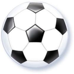 Fóliový balón futbalová lopta, 55cm