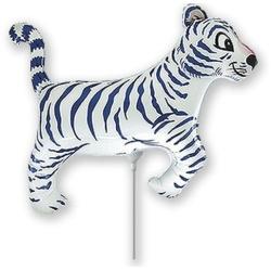 Fóliový balón Tiger biely, 35cm
