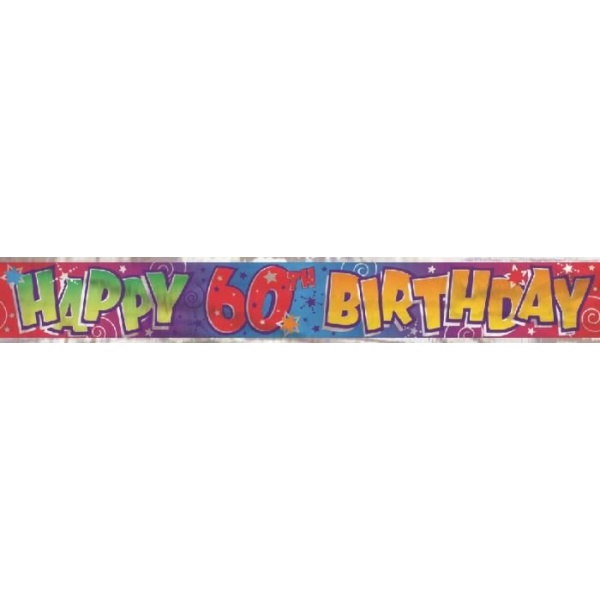 Nápis Happy Birthday 60. narodeniny, 360cm