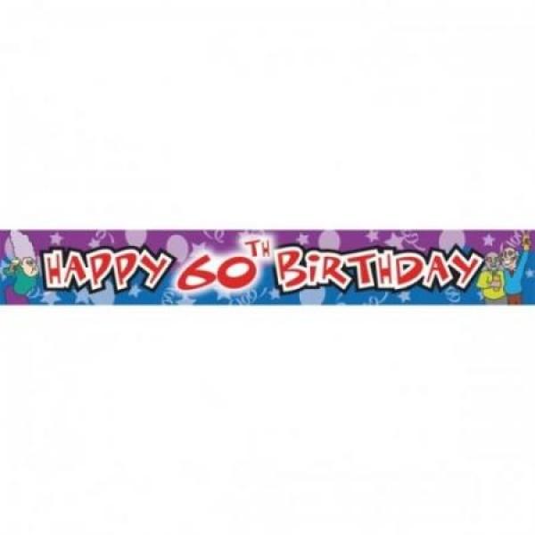 Nápis Happy Birthday 60. narodeniny