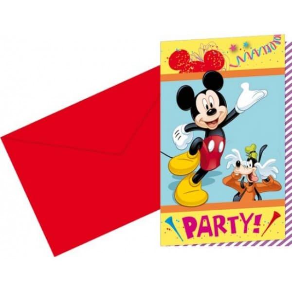 Narodeninové pozvánky Mickey Mouse, 6ks