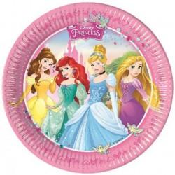 Papierové taniere Disney princezny, 23cm, 8ks