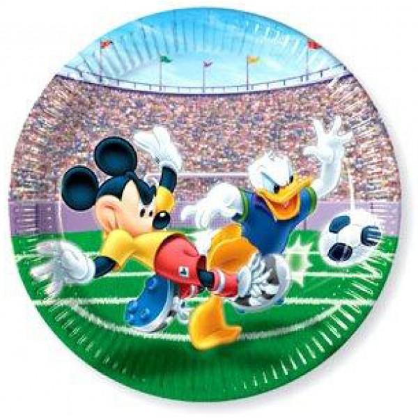 Papierový tanier Mickey Soccer, 23cm, 10ks