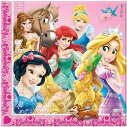 Servítky Disney princezny, 33x33cm, 20ks