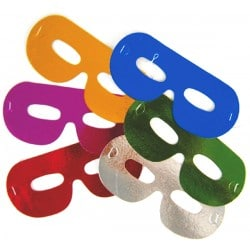 Škrabošky, detské farebné masky, 6ks