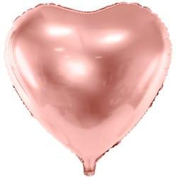 Fóliový balón ružovo zlaté srdce, 45cm