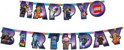 Girlanda nápis Happy Birthday Lego Movie 2, 163x13cm
