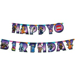 Girlanda nápis Happy Birthday Lego Movie 2, 163x13cm