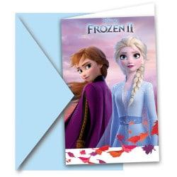 Narodeninové pozvánky Frozen 2, 6ks