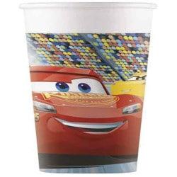Papierové poháre Cars 3, 200ml, 8ks