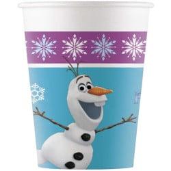 Papierové poháre Frozen - Olaf, 8ks