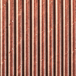 Papierové slamky ružovo zlaté lesklé, 10ks