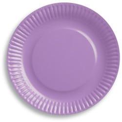 Papierové taniere bledofialové, 18cm, 6ks