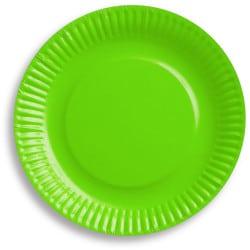 Papierové taniere zelené, 18cm, 6ks