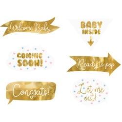 Rekvizity na fotenie Baby shower, 6ks