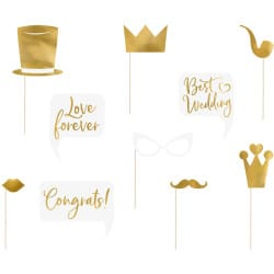 Rekvizity na fotenie Svadba zlaté, 10ks