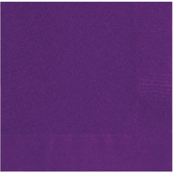 Servítky tmavo fialové, 33x33cm, 20ks