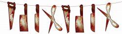 Girlanda Halloween krvavé náradie, 200cm