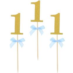 Napichovadlo 1. narodeniny modré, 10ks