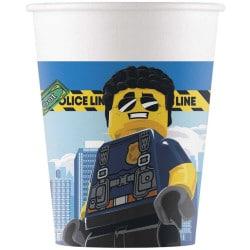 Papierové poháre Lego City, 200ml, 8ks