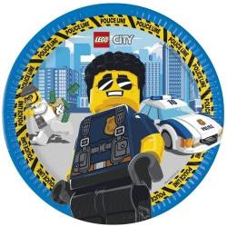 Papierové taniere Lego City, 23cm, 8ks