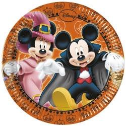 Papierové taniere Mickey Halloween, 20cm, 8ks