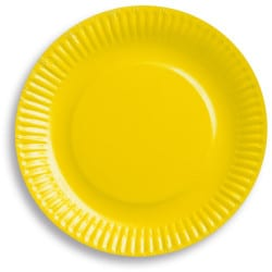 Papierové taniere žlté, 18cm, 6ks