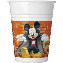 Plastové poháre Mickey Halloween, 200ml, 8ks