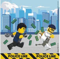 Servítky Lego City, 33x33cm, 16ks